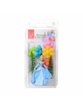 Kit décor plastique Cendrillon - 4 pièces