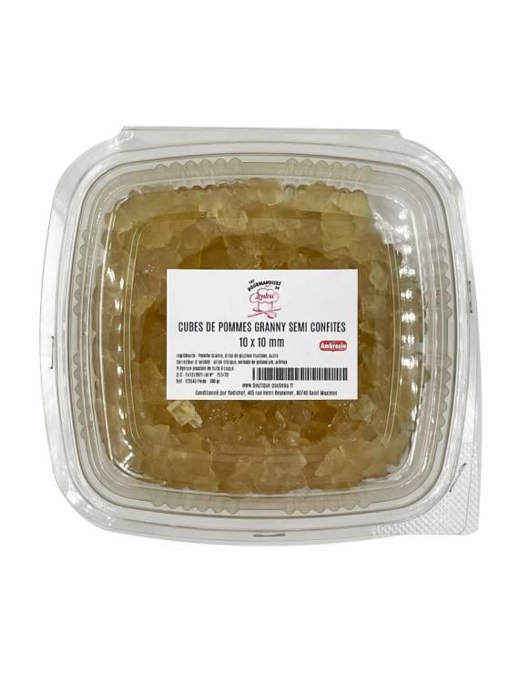 Cubes de pommes granny semi confites - 500g