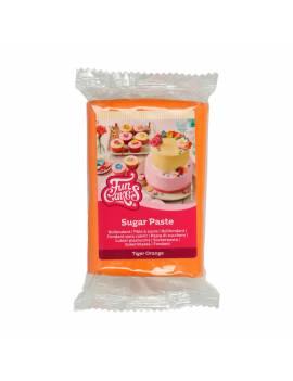 Pâte à Sucre Tigre/Orange Vif FunCakes 250 gr
