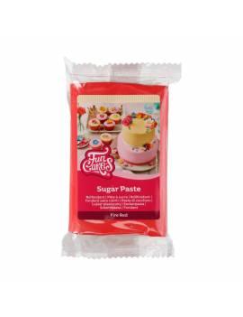 Pâte à Sucre Rouge Vif FunCakes 250 gr
