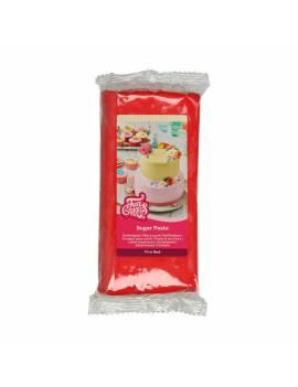 Pâte à Sucre Rouge Vif 1kg - FunCakes