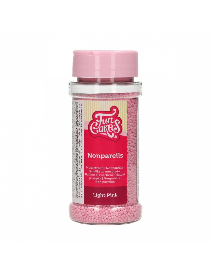 Mini-Perle rose claire en sucre 80g - FunCakes