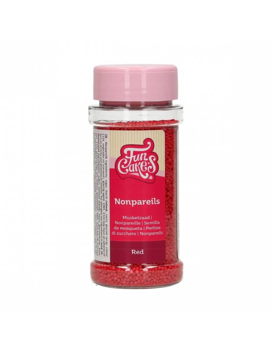 Mini-Perle rouge en sucre 80g - Funcakes