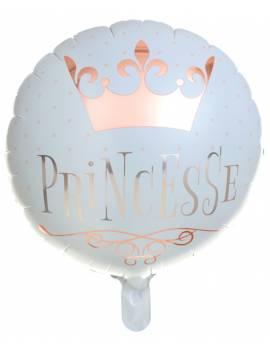 Ballon aluminium princesse OR 45cm