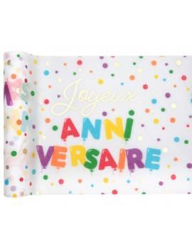 Chemin de table joyeux anniversaire ballon 3M - Santex