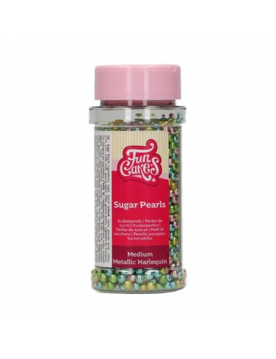 Mini perle sucre métal harlequin 80g - FunCakes