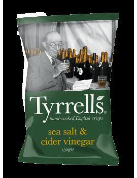 Chips Tyrrells sel de mer & vinaigre de cidre - 150g