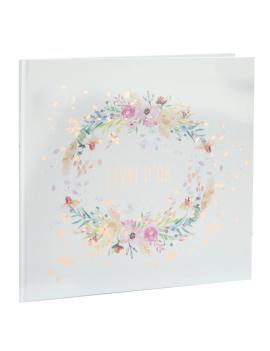 Livre d'or cadre mariage fleuri multicolor
