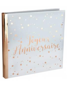 Livre d'or J. anniversaire blanc/rose gold - Santex