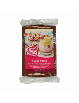 Pâte à sucre marron 250g - Funcakes