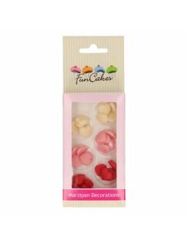 Petits coeurs en pâte d'amande x30 - Funcakes
