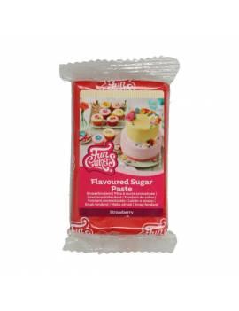 Pâte à Sucre Goût Fraise Funcakes 250 gr