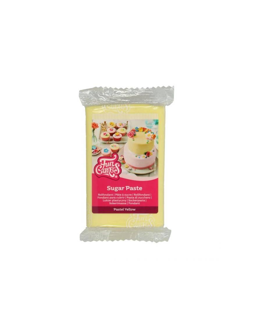 Pâte à Sucre Jaune Pâle 250 gr - FunCakes