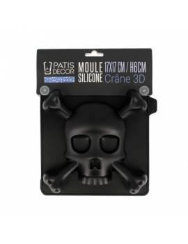 Moule en silicone tête de mort 3D - PatisDécor