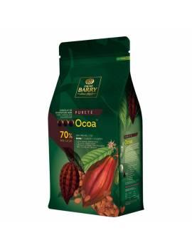 Dragée Mini coeur au chocolat noir 50% Pécou - 500 gr  Or ou Argent