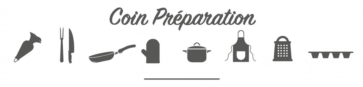 Coin préparation en cuisine, tous l'équipement pour préparer vos recettes comme un chef