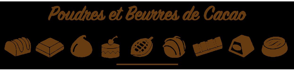 Poudre et beurre de cacao chez Poubeau