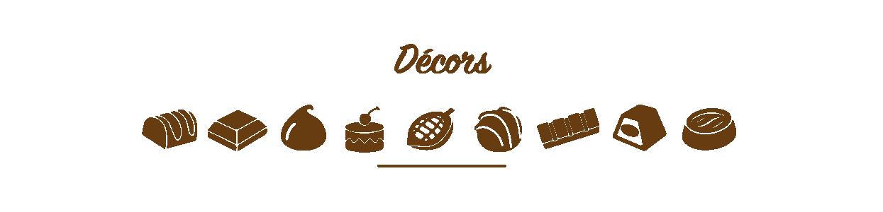 Décors et plaques en chocolats chez Poubeau