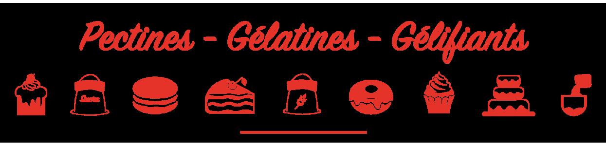 Pectine, gélatine et gélifiant